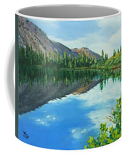 Coffee Mug featuring the painting Virginia Lake by Amelie Simmons