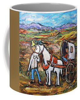 Coffee Mug featuring the painting Visit The In-laws by Xueling Zou