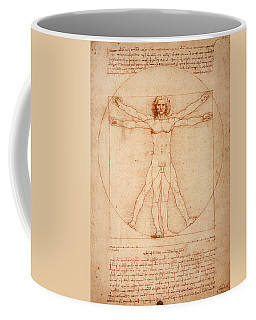 Vitruvian Man Coffee Mug by Bill Cannon