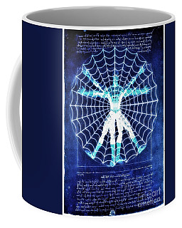 Vitruvian Spiderman White In The Sky Coffee Mug