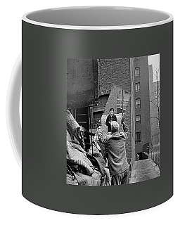 Vivian Maier Self Portrait Probably Taken In Chicago Illinois 1955 Coffee Mug