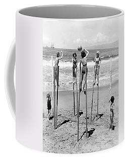 Volleyball On Stilts Coffee Mug