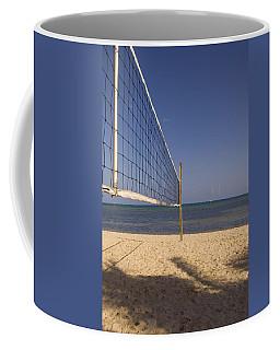 Vollyball Net On The Beach Coffee Mug