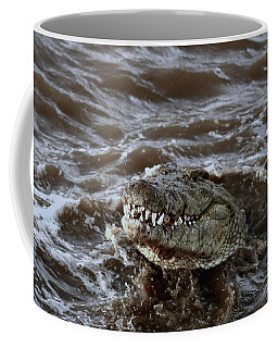 Voracious Crocodile In Water Coffee Mug