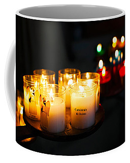 Votive Candles In A Cathedral, Reims Coffee Mug
