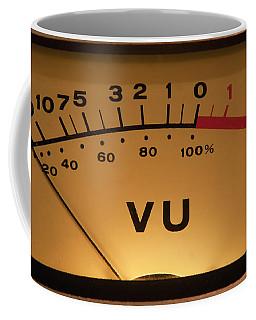 Coffee Mug featuring the photograph Vu Meter Illuminated by Gunter Nezhoda