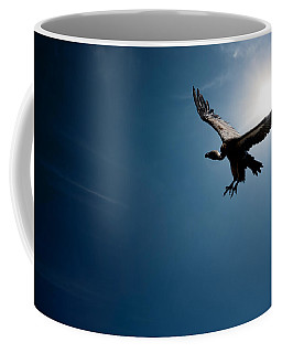 Vulture Flying In Front Of The Sun Coffee Mug
