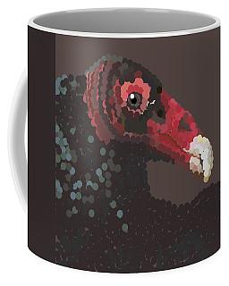 Vulture Pixel Pointillized Coffee Mug