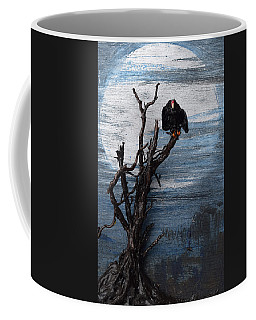 Vulture With Blue Moon Coffee Mug