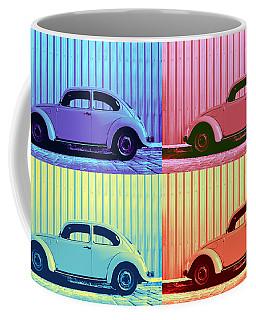Vw Beetle Pop Art Quad Coffee Mug