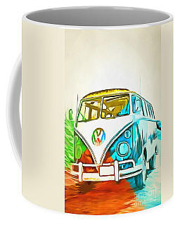 Vw Bus Pop Art 5 Coffee Mug