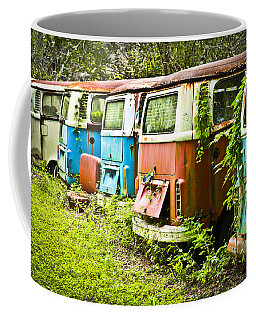 Coffee Mug featuring the photograph Vw Buses by Carolyn Marshall
