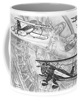 Waco Ymf - Vintage Biplane Aviation Art Coffee Mug