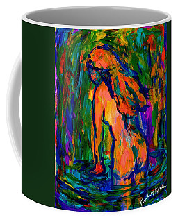 Coffee Mug featuring the painting Wading by Kendall Kessler