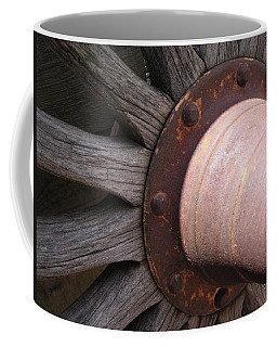 Coffee Mug featuring the photograph Wagon Wheel by Diane Alexander
