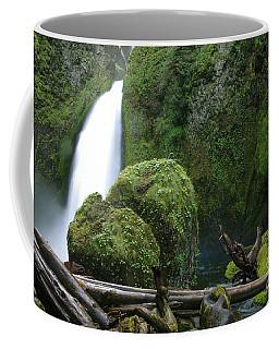 Wahclella Falls And Boulder Coffee Mug