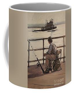 Waiting At Castle Island Coffee Mug
