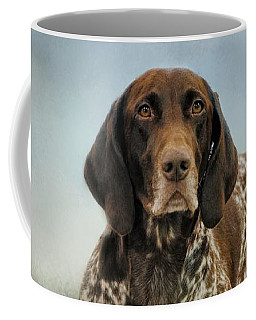 Waiting For A Cue - German Shorthaired Pointer Coffee Mug