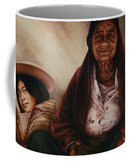 Waiting For The Sunset Coffee Mug by Yvonne Wright