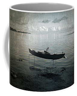 Coffee Mug featuring the photograph Waiting In Blue by Lucinda Walter