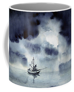 Coffee Mug featuring the painting Waiting Out The Squall by Sam Sidders
