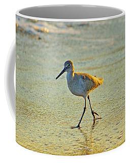 Coffee Mug featuring the photograph Walk On The Beach by Cynthia Guinn
