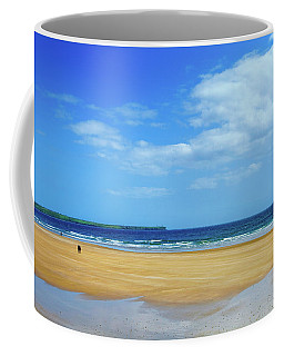 Walkers On The Strand In Tramore Coffee Mug
