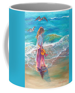 Walking In The Waves Coffee Mug