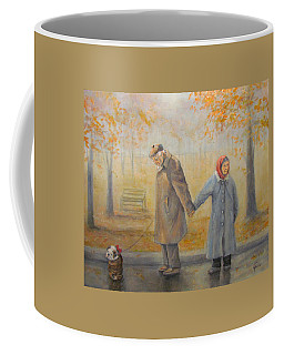 Walking Miss Daisy Coffee Mug by Donna Tucker