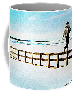 Walking On Fences Coffee Mug