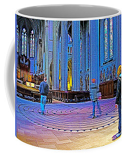 Walking The Indoor Labyrinth In Grace Cathedral In San Francisco-california Coffee Mug