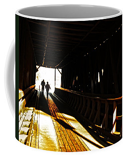 Coffee Mug featuring the photograph Walking Through History - Elizabethton Tennesse Covered Bridge by Denise Beverly