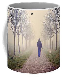 Walking With The Dog Coffee Mug