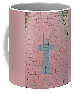 Coffee Mug featuring the photograph walkway of Faith by Aaron Martens