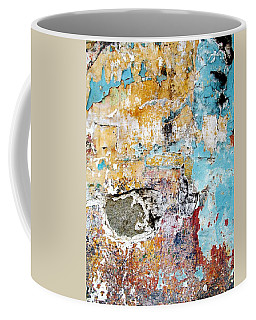 Coffee Mug featuring the digital art Wall Abstract 124 by Maria Huntley