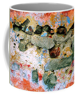 Coffee Mug featuring the digital art Wall Abstract 15 by Maria Huntley