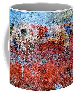 Coffee Mug featuring the digital art Wall Abstract 17 by Maria Huntley