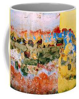 Coffee Mug featuring the digital art Wall Abstract 7 by Maria Huntley