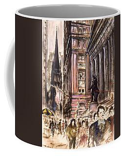 New York Wall Street - Fine Art Painting Coffee Mug