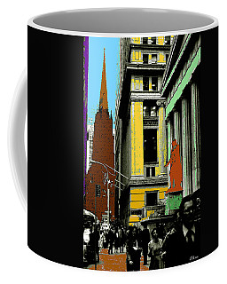 New York Pop Art In Blue Green Red Yellow Coffee Mug