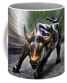 Wall Street Bull Coffee Mug by Wes and Dotty Weber