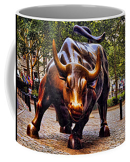 Wall Street Bull Coffee Mug by David Smith