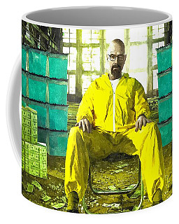 Walter White As Heisenberg Painting Coffee Mug by Gianfranco Weiss