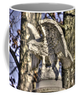 Coffee Mug featuring the photograph War Eagles - Vermont Company F 1st U. S. Sharpshooters-a1 Pitzer Woods Gettysburg by Michael Mazaika
