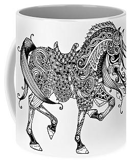 War Horse - Zentangle Coffee Mug by Jani Freimann
