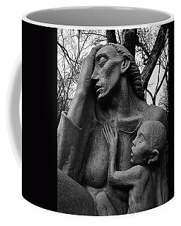 War Mother By Charles Umlauf In Black And White Coffee Mug