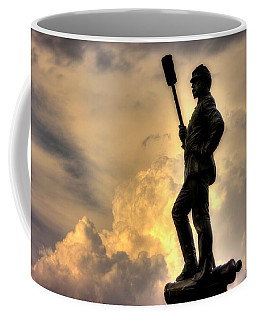 Coffee Mug featuring the photograph War Thunder - The Clouds Of War - 4th New York Independent Battery Near Devils Den Gettysburg by Michael Mazaika