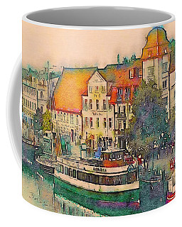 Coffee Mug featuring the photograph Warnemunde In Watercolor by Susan Maxwell Schmidt
