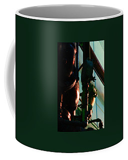 Coffee Mug featuring the photograph Warriors Watch Sears Mechanicals by Cleaster Cotton