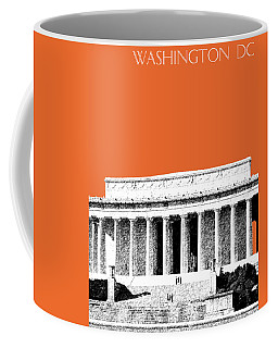 Washington Dc Skyline Lincoln Memorial - Coral Coffee Mug